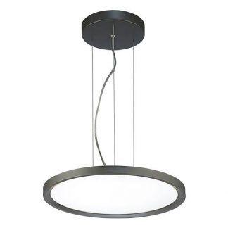lampa wisząca na linkach - obręcz led do salonu