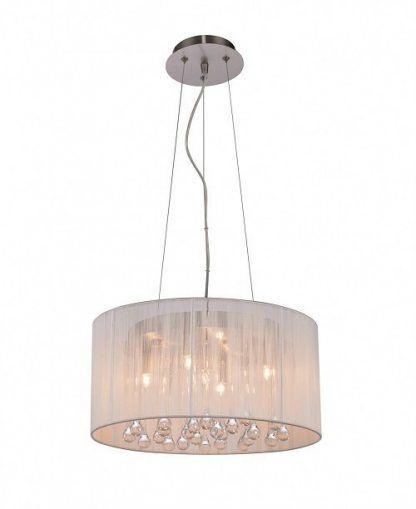 lampa wisząca na linkach z kroplami kryształowymi