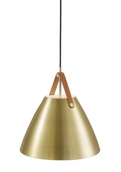 lampa wiszaca na pasku skórzanym w stylu skandynawskim