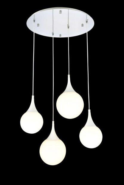 lampa wisząca na planie koła szklane klosze