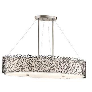 lampa wisząca nad stół ażurowy srebrny wzór