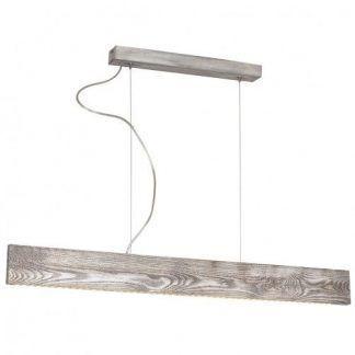 lampa wisząca nad stół drewniana listwa led