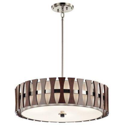 lampa wiszaca nowoczesna brązowa do drewnianych mebli w jadalni