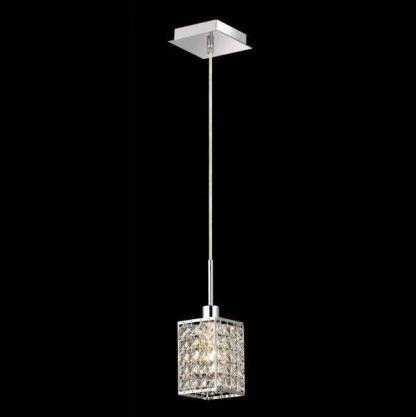 lampa wisząca nowoczesne glamour srebrna