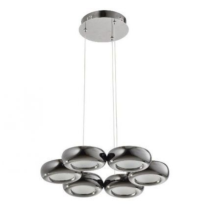 lampa wiszaca okręgami led - srebrne kółka