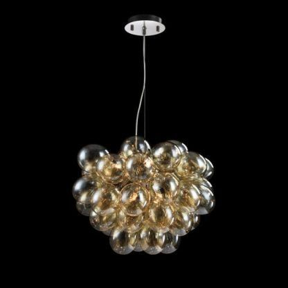 Lampa wisząca połączone kule - transparentne szkło