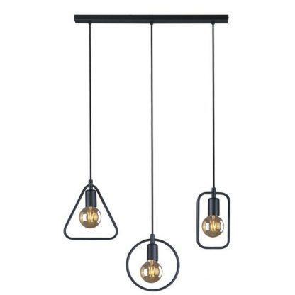 lampa wisząca retro potrójna na 3 żarówki do kuchni