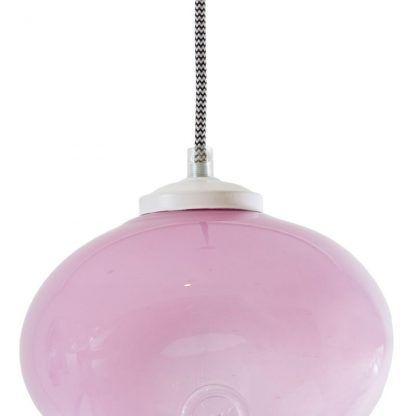 lampa wiszaca różowa kula pastelowa