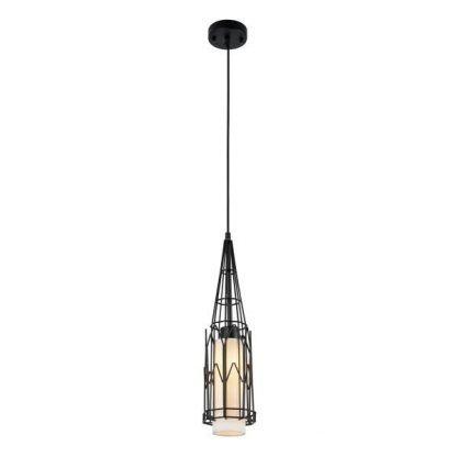 lampa wisząca styl urbanistyczny druciany klosz