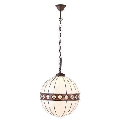 lampa wisząca szklana kula połyskujące szkiełka