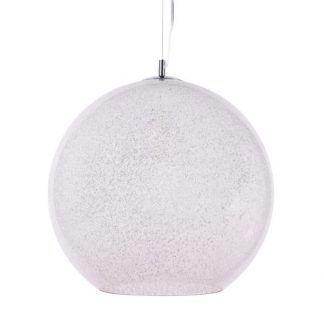 lampa wisząca szklana kula ze szronem nowoczesna