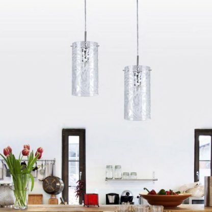 lampa wisząca szklana nad blat w kuchni