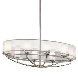 lampa wisząca szklana - srebrna do salonu i jadalni