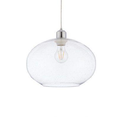 lampa wisząca szklana z kloszem otwartym na dole