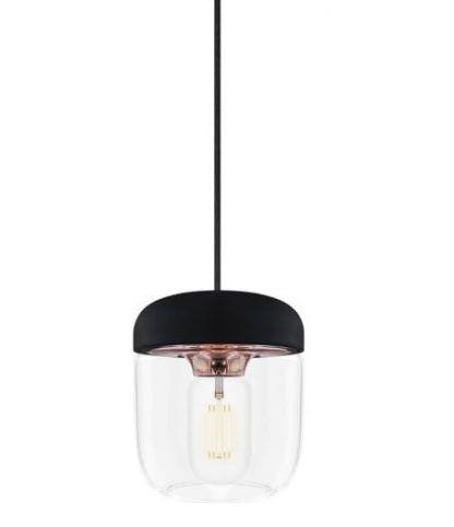 lampa wiszaca szklana z kloszem słoikowym i miedzią