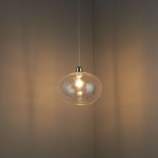 lampa wisząca szklana z otwartym okrągłym kloszem