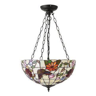 lampa wisząca szkło tiffany witrażowe motyw kwiatów