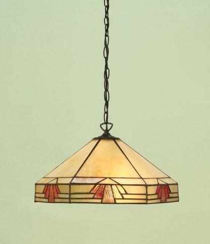 lampa wisząca Tiffany witrażowa kremowa