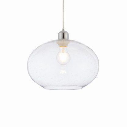 lampa wisząca transparentna szklana do salonu