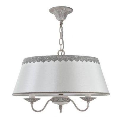lampa wisząca vintage biała z szarymi detalami