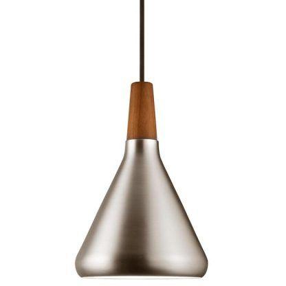 lampa wisząca w delikatnym srebrzystym połysku