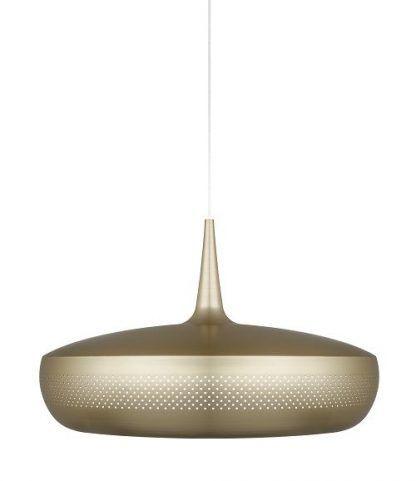 lampa wiszaca w kolorze mosiądzu do salonu - okragła