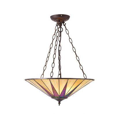 lampa wisząca w kolorze pomarańczowym szkło