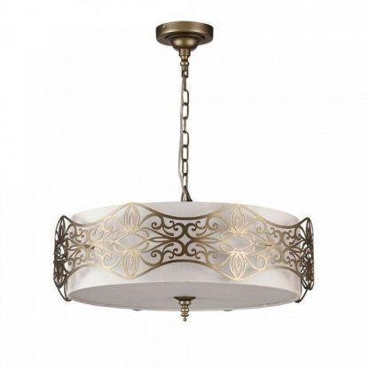 lampa wiszaca w kolorze postarzanego złota do eleganckich salonów
