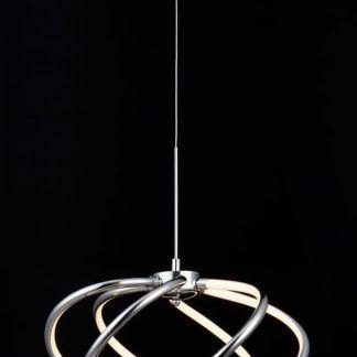 Lampa wisząca w kształcie spiralnym do sypialni