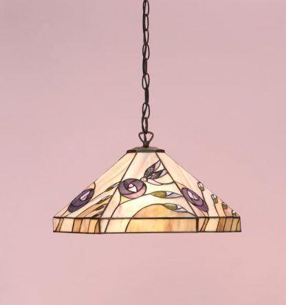 lampa wisząca w pastelowe kwiaty szkło tiffany