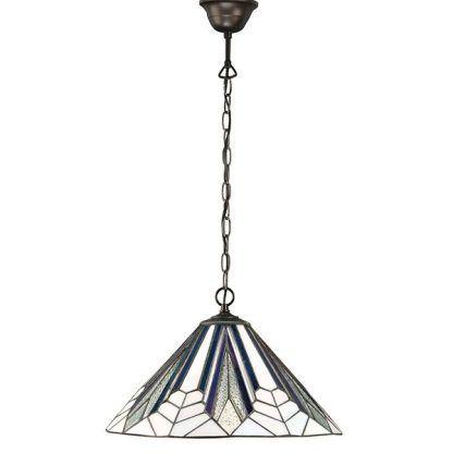 lampa wisząca witrażowy klosz stonowane kolory