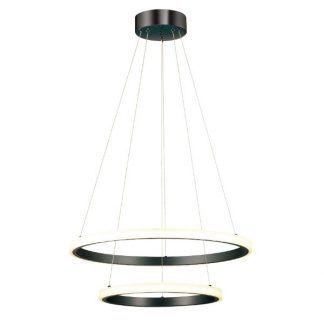 lampa wisząca z 2 czarnymi ringami