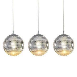lampa wiszaca z 3 szklanymi kulami srebrnymi