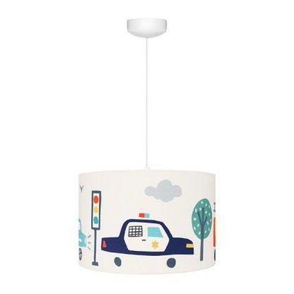 Lampa wisząca z abażurem w samochody sypialnia