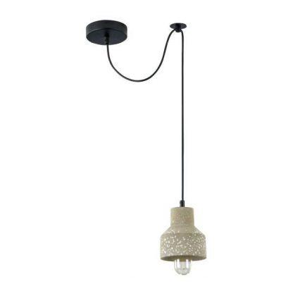 lampa wisząca z betonu długie zawieszenie