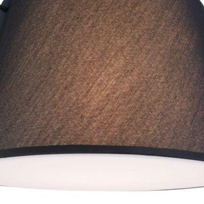 lampa wisząca z czarnym kloszem