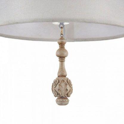 lampa wisząca z dekorami w stylu vintage