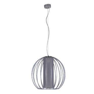 Lampa wisząca z drucianym kloszem w kolorze szarym