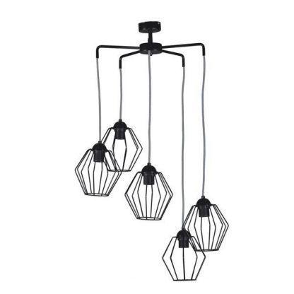 Lampa wisząca z drucianymi kloszami do salonu