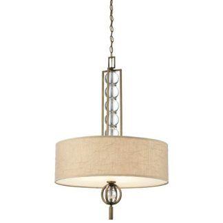lampa wisząca z dużym abażurem płaskim i szklanymi kulami