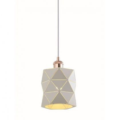 lampa wisząca z geometrycznym kloszem