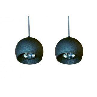 lampa wisząca z grafitowymi kulkami do salonu