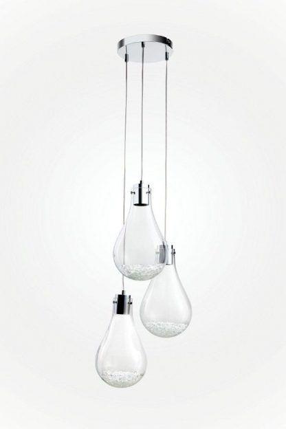 lampa wisząca z kloszami w kształcie kropli do wysokich sufitów