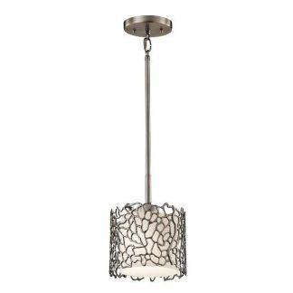 lampa wiszaca z kloszem i grawerem stalowa