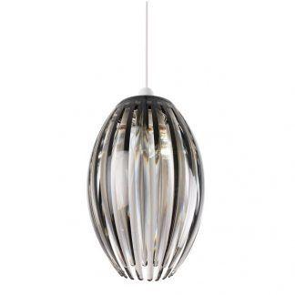 lampa wisząca z kloszem z kryształków