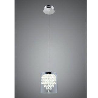 lampa wisząca z kryształkami do sypialni