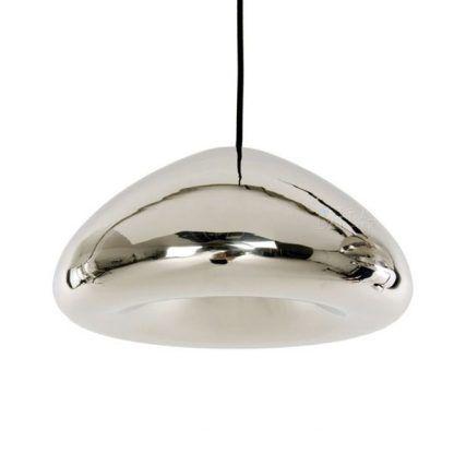 lampa wisząca z lustrzanym kloszem do salonu
