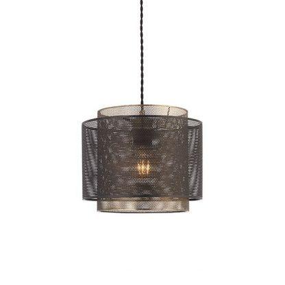 lampa wisząca z metalowej siatki industrialna