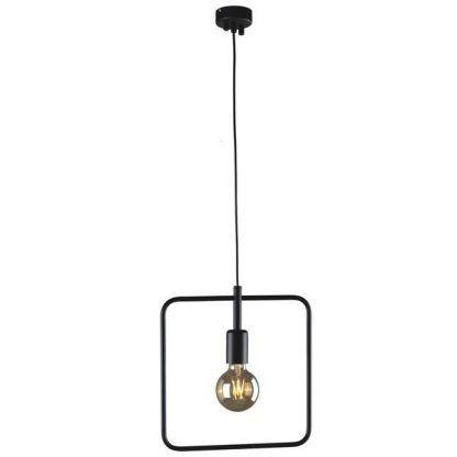 lampa wisząca z metalu kwadratowa do salonu