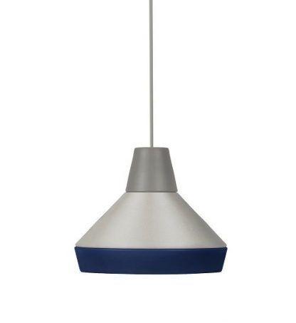 lampa wisząca z niebieską oprawą do pokoju dziecka